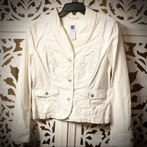 GAP White Denim Jacket Woman's Size 10